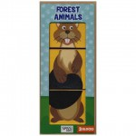 3 STACKING BLOCKS - FOREST ANIMALS