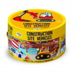 CONSTRUCTION SITE VEHICLES - ROUND BOX